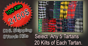 BUY 100 KILTS PLAN 2150$ INCLUD SHIPPING COST