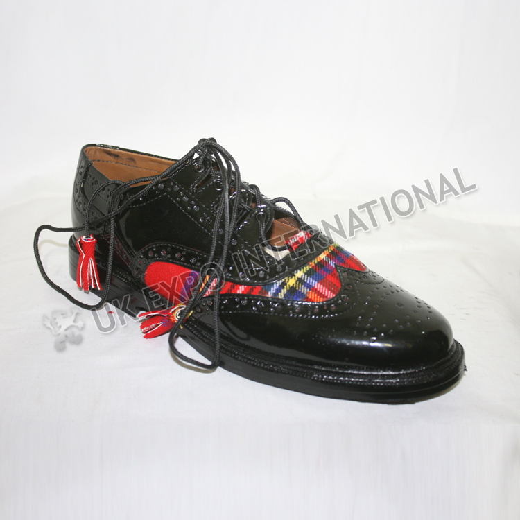 Royal Stewart Tartan PVC shine in Black Color With ruber Soul