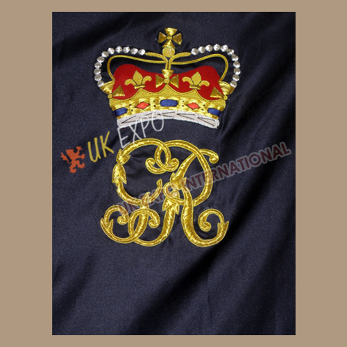 42th Flag Dark Blue Color Single Clothe Double Embroidery