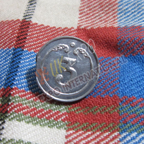 3rd Regiment foot Pweter Button 18mm and 22mm
