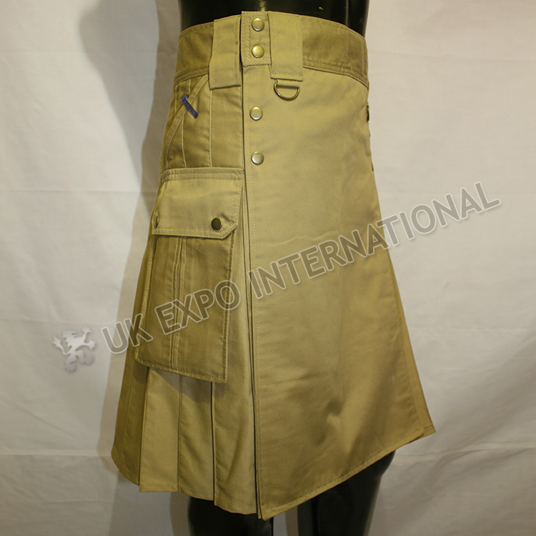 MEN EXE Utility Kilt With Sports Casual Pocket