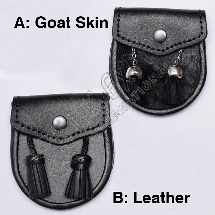 A Goat Skin B Leather Baby Sporran S size