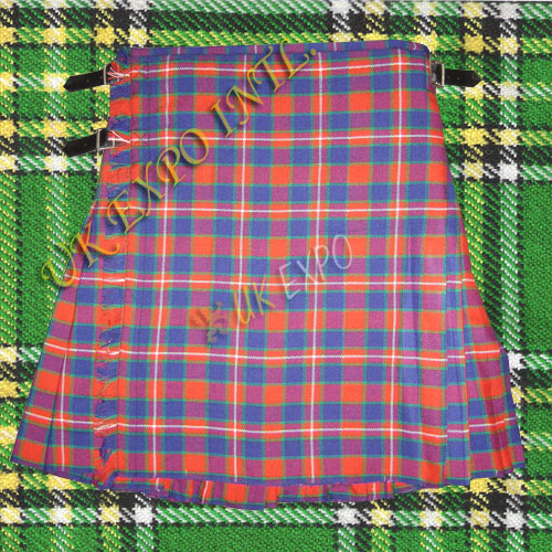 Ancient Fraser Tartan Kilt 3 Buckle