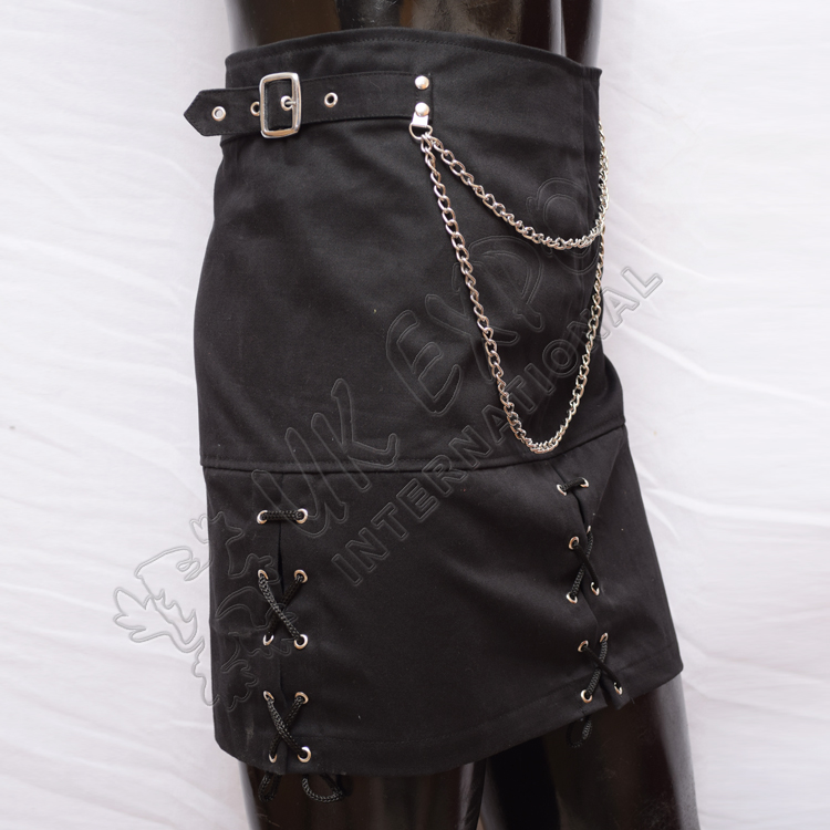 Black PC or Cotton Lace Skirt