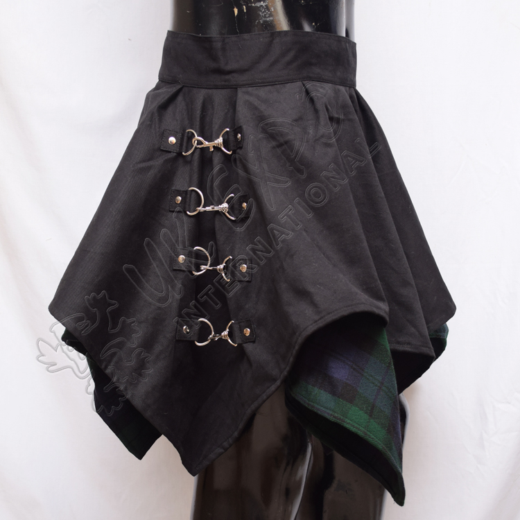 Black Watch and Black PC with D Ring and clips Skirt