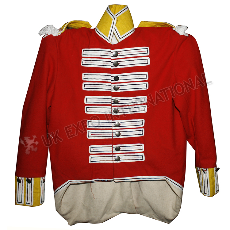 British Jacket Red Main body and Yellow Collar and Cuff