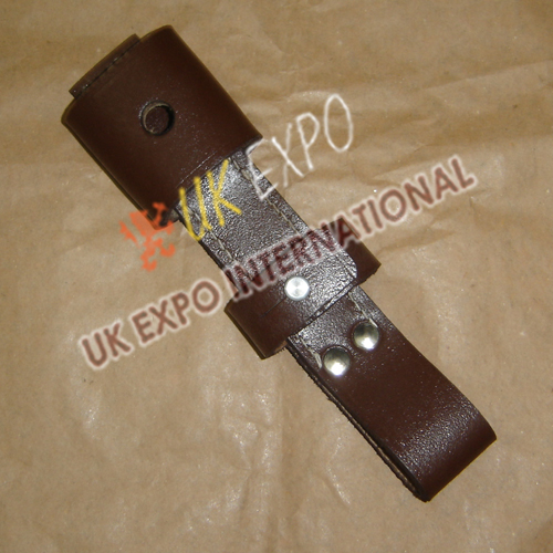 Brown leather Bayonet and Sword Frogs