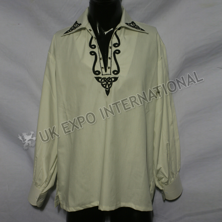 Embroidered Button Up Mens Shirt ...