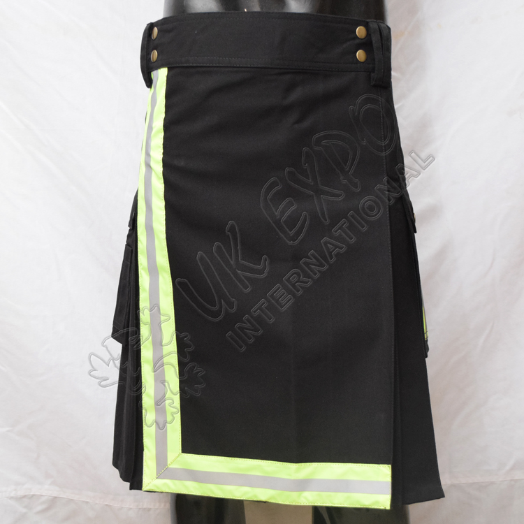 Fire Man Light Green Color Tape Utility Kilt