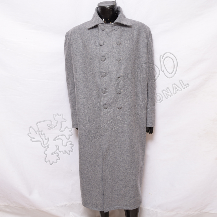 Great Coat with Double Brest Light Gray color