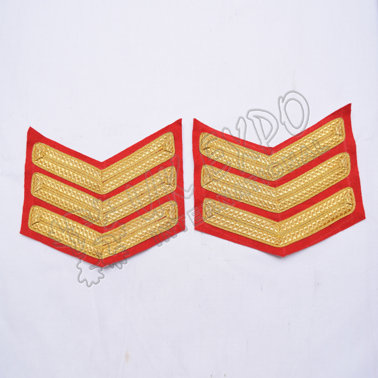 Hand Embroidered | Shoulder Chevron
