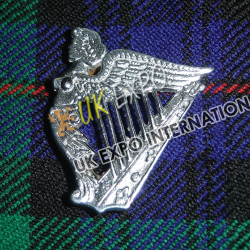 Irish Harp Metal Badge Length