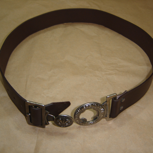 KFUM SPEJDERNE VAER BEREDT Buckle With Brown Lather Belt