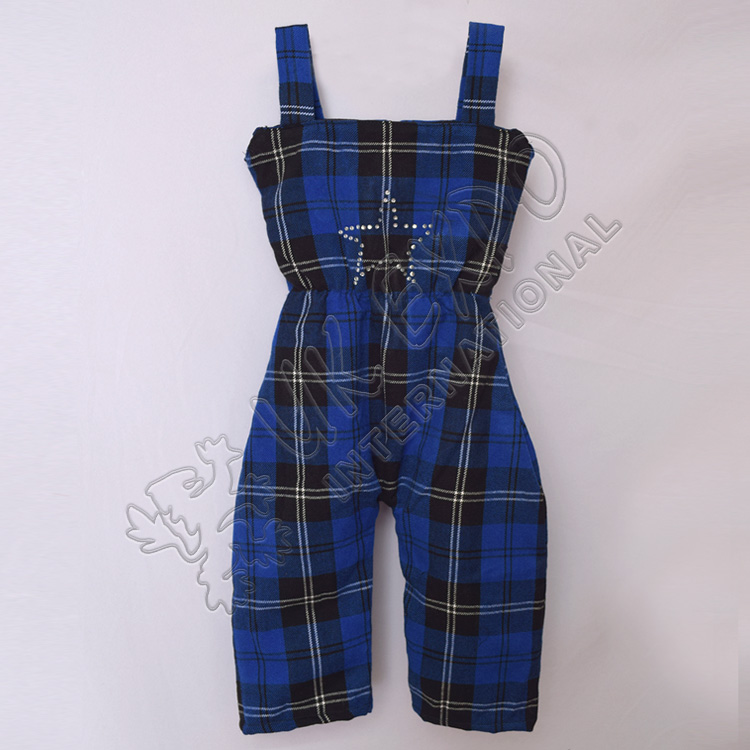 Kids Royal Ramsay Blue Tartan Romper For 3 Year Old