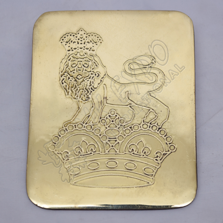 lion and chrome chest plater brass