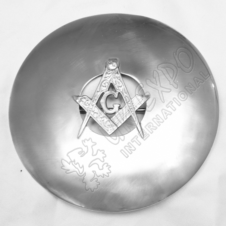 Masonice Badge with Center Hole Plain Brooch