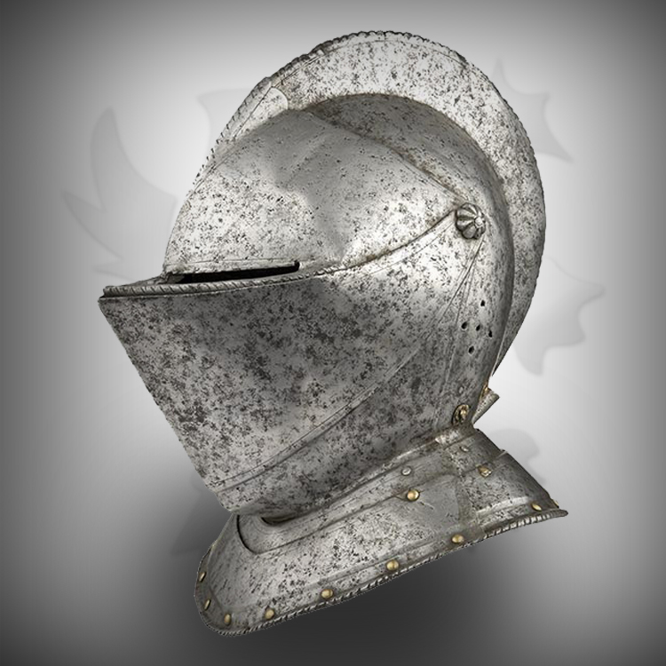Medieval Head Armor Helmet For Warriors with Rough Stuff