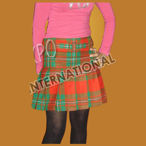 Mini Fashion Tartan Skirt