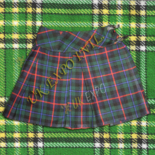 Ladies Tartan Billie Skirts 2 belt 2 Buckles and Velcro Closing