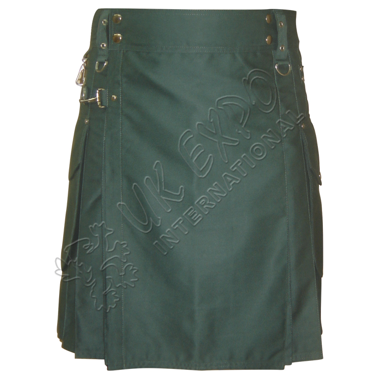 Power Men Green Utility Kilt