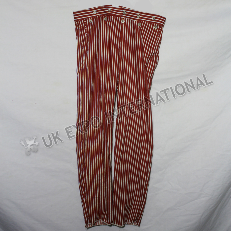 Red and White Stripes Cotton Trouser