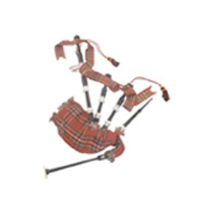 Sheesham Wood Bagpipe Miniature