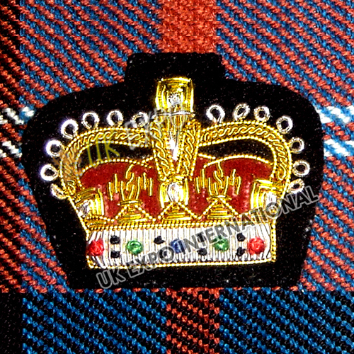 Small Crown Badge With Black