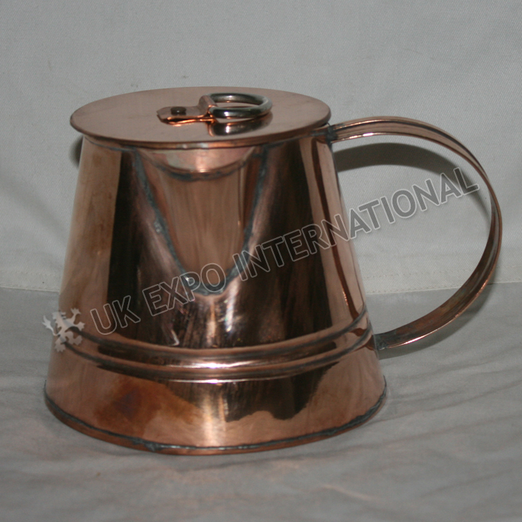Small size coffee or tea pot made in Copper