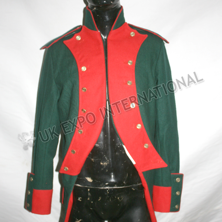 Spanish Coat Dark Green Main Body 21st Buttons