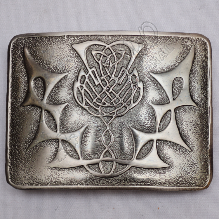 Thistle Flower Buckle Antique Black Color