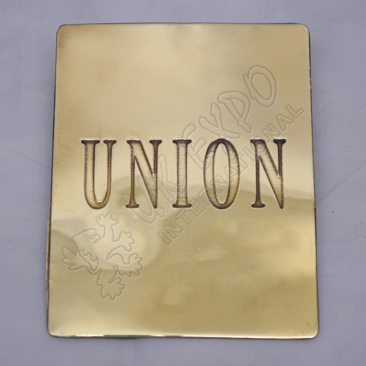 Union Brass Chest Plate