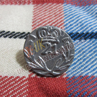 21st Regiment Foot with crown and leafe Button 18mm and 22mm Button