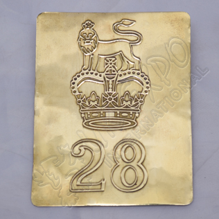 28th Lion and Crown Brass Chest Plate