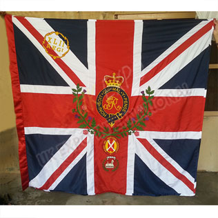 42nd regimental King Color Flag Hand Embroidery Large Flag maker