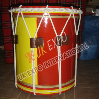 57th Regiment Drum Yellow and Red