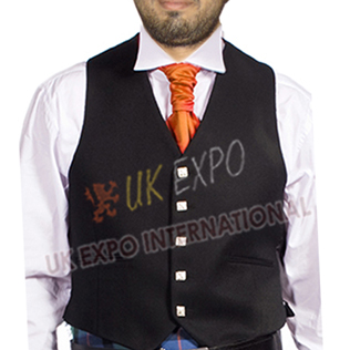 5 Squire Buttons Argyle Vest 100 Brathea Black Fabric