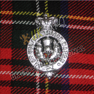 5th Vol Batt Black Watch metal Badge