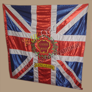 73rd Regiment of Foot Highland Large Hand Embroidery Flag mangalore LXXII REG