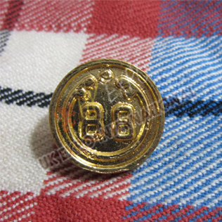 88th Regiment foot Gold Buttons 18mm and 22mm