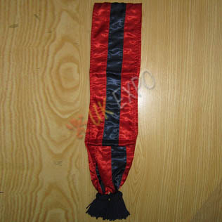 Silk Sash Dark Blue and Crimson Color with dark Blue Tessels