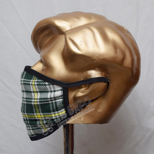 St Patrick Tartan Scottish Style Mask
