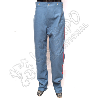 American civil war trouser sky blue with red line and tin buttons