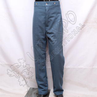American civil war trouser sky blue with tin buttons