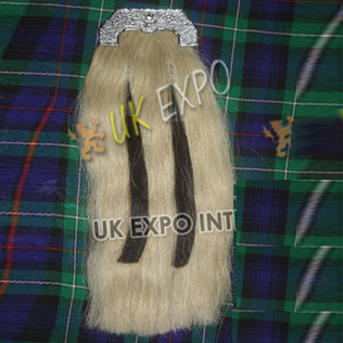 American Eagle cantle with White Horse hair Sporan
