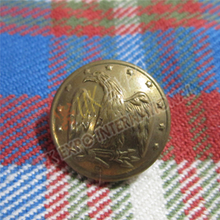 American eagle with stars button brass