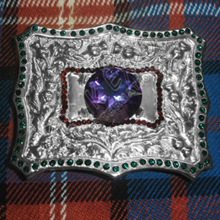 Amethyst Thistle buckle red and Green Color Dimonds