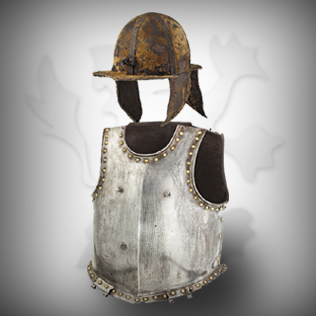 Antique Body Armor with Helmet