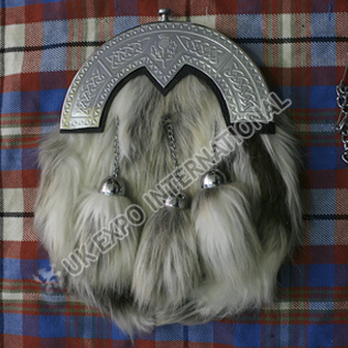 Artificial Fox hair cross tassels Sporran