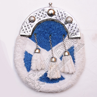 Artificial Fur with Scottish flag with Celtic Cantle