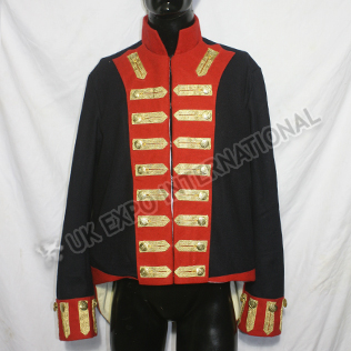 Artillery Habit Napoleonic French Jacket Black Color Wool